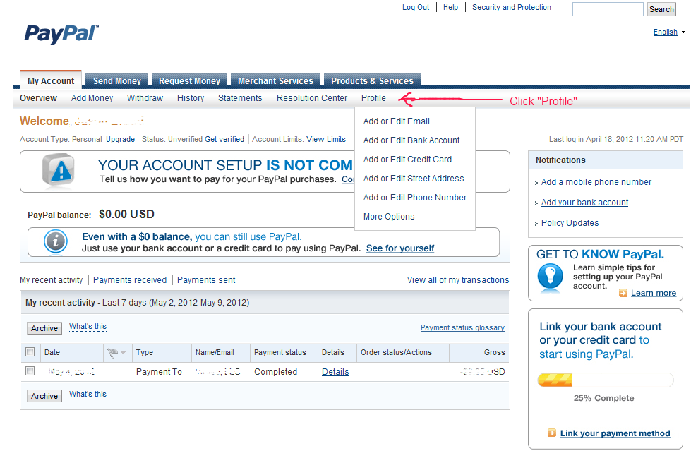 Paypal Personal Account Limits